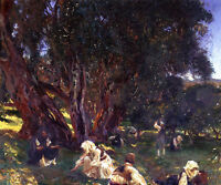 Art Oil painting John Singer Sargent - Albanian Olive Pickers Busy farmers art