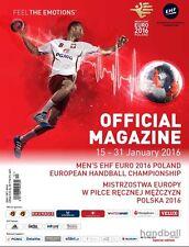 Programme European championship in handball EHF EURO 2016 Poland