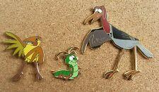 Fantasy Disney Pin Set. The Fox and the Hound Characters-Disney Bird Pin-LE 50