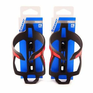 GIANT  Proway Water Bottle Cage Bike Bicycle Bottle Cage - Black & Neon Red 31g