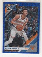 KEVIN KNOX 2019-20 Panini Donruss Optic Blue Velocity Holo Prizm #63 Knicks Mint