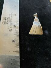 Pendant - Navajo Silver etched triangle
