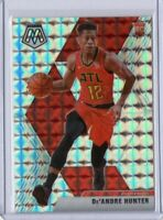 2019-20 De'Andre Hunter Panini Mosaic Silver RC #239 Rookie Card Prizm Hawks