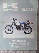 1985 Kawasaki KLR250 KLR 250 Shop Service Repair Manual OEM Supplement
