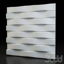 Wall Panels Mold *PARALLEL* 3D Decorative Stone. Plastic Form for Plaster Gypsym