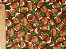 FOOTBALLS PIGSKIN GRIDIRON FABRIC QUILTING TREASURES NFL BY THE YARD