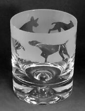 More details for german shorthaired pointer frieze boxed 30cl glass whisky tumbler