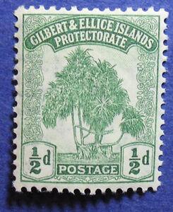 1911 GILBERT ELLICE IS 1/2d SCOTT# 8  SG# 8 UNUSED  CS06832
