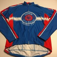 Canari Mens Cycling Full Zip Thick Jacket Jersey Cycle Wear Sz XL