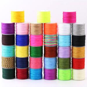 20m/roll Braided Nylon Knotting Thread Crafting Cord Beading String 0.8mm