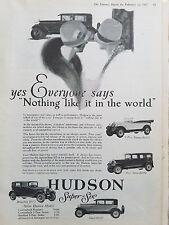 1927 Hudson Super Six Sedan Coach Brougham Phaeton Car 5 Models Original Ad