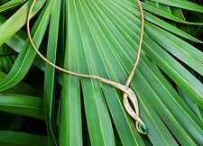 6.62 Cts Colombian Emerald Marquise & Diamond Statement Necklace 14K Gold