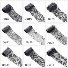 27 color nail stickers black lace beauty nail paste nail products practical