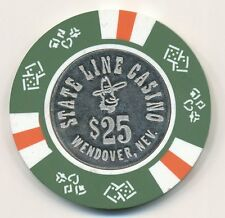 State Line Casino Wendover 6th Issue $25 Casino Chip 1980
