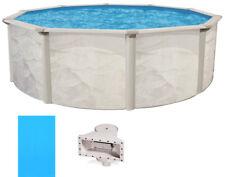 """Ocean Mist 18' Round 52"""" Steel Above Ground Swimming Pool, Skimmer & Liner"""
