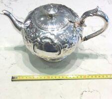 Teapot Sheffield Silverplate English Antique Original Victorian 800' Sale -50%