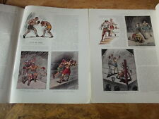 ILLUSTRATION 1931 4585 JOFFRE dessins ORDNER BOXE BOXING MERAPI JAVA INDIEN FLOR
