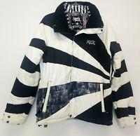 Ride Womens Ski Jacket Black and White Size Medium