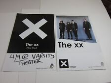 The Xx Poster - on tour varsity mpls lot of 2 11x17 double sided indie p345
