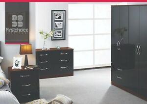 Ready Assembled Stratford Black Oak Wardrobe Complete Bedroom Furniture Set