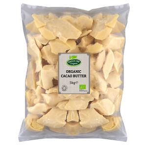 Organic Cacao Butter - Food Grade - 5kg Certified Organic