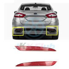 For Ford Fusion Mondeo 2013-2018 Pair Red Lens Rear Bumper Reflector o Fog Light