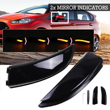2X DYNAMIC LED SIDE DOOR WING MIRROR INDICATORS LIGHT FOR FORD FIESTA MK7 B-MAX