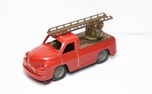 LEMEZARUGYAR Foreign Plastic Fire Truck With Tinplate Base - Excellent Retro