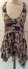 Silk Animal Print Round Neck Sleeveless Dresses for Women