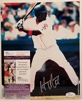 Hanley Ramirez Signed Boston Red Sox 8x10 Photo JSA COA