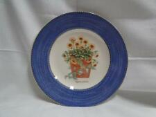 Wedgwood Sarah's Garden, Blue Band, Flower Pot: Salad Plate, 8 1/4""