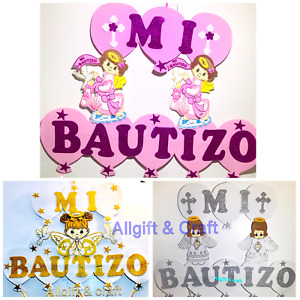 Baptism Favors Banner GIRL Mi Bautizo Wall Decoration/decoracion para bautizo