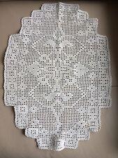 Vintage Rétro Art Déco géométrique Crème Main Crochet Dentelle TABLE Centrepiece Mat