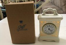"""VINTAGE AVON*CLASSIC CARRIAGE CLOCK*6 3/4""""X4 1/2"""" NEW IN BOX*USES ONE AA BATTERY"""