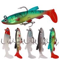 Artificial Fishing Lure Lead Head Soft Bait 13g/8.5cm Lures Quality Hooks 3D Eye