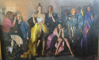 "Stunning Contemporary Elena Byzova  Huge Oil Painting "" Before The Ballet"""