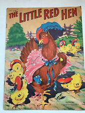 The Little Red Hen Oversize Children's Book 1942, Good Condition. #2406.