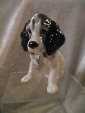 Vintage SylvaC Dog Figurine SPANIEL no 18, Black & White - 13cm