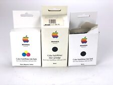 Lot of 3- Color Apple StyleWriter 2400 Ink Cartridges M3329G/A- 1 Color, 2 Black