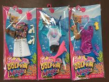 3 Barbie Delfín Magic Fashion & Accesorio Paquetes