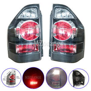 Left & Right Smoked Rear Tail Light Lamps For Mitsubishi Pajero NM NP 2001-2006