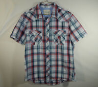 American Eagle Outfitters Short Sleeve Oxford Dress Shirt Vintage Fit Mens Large