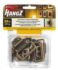 Flat Mount 2 Hole D ring Hanger 50lb 8 per package