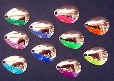 (10)  Colorado Spinner Blades #3.5 Copper Smooth Walleye Candy FES