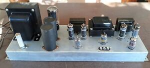 """Vintage Tube Stereo """"EL-84/6BQ5"""" 3-Channel Power Amplifier, Complete, To Restore"""