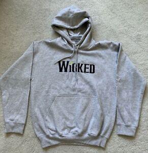 Wicked Broadway Musical Gray Hoodie Sweatshirt Women's Size M
