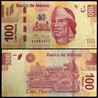 Mexico 100 Pesos, 2008, P-124a, Serie A, Banknote, UNC