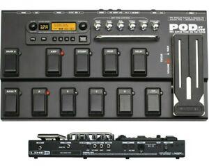LINE 6 POD XT LIVE GUITAR MULTI EFFECTS PEDAL PROCESSOR & POWER SUPPLY