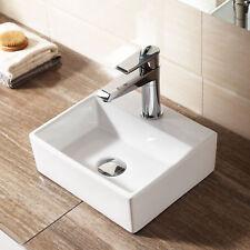 Modern Square Ceramic Small Cloakroom Basin Wall Hung Bathroom Sink 330x290