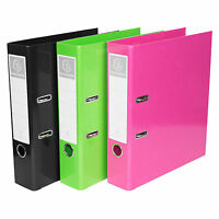 3 Pack A4 Colour Lever Arch Files 70mm Spine Large Paper Storage Folders Set